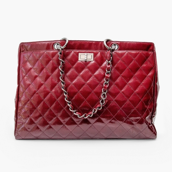 df817c38cc31 CHANEL Bags | Quilted Patent Leather Diamond Shine Large Tote | Poshmark